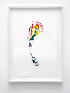 Scattered rainbow / enfys, 2014, Tusche auf Papier, 29,7x20 cm, Courtesy Lullin + Ferrari, Zürich
