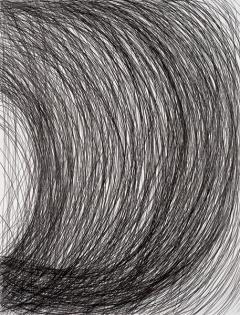 O.T., 2014, Bleistift auf Papier, 200x150cm ©ProLitteris, Courtesy Jean Fournier, Paris. Foto: A.Ricci