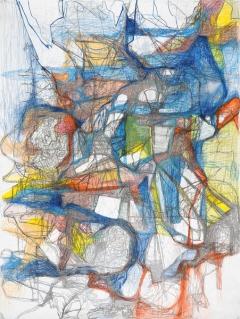 O.T., Farbstift auf Papier, 200x150cm ©ProLitteris, Court. Galerie Jean Fournier, Paris. Foto: L. Ardhuin