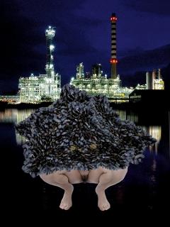 Feminist Energy Crisis, 2017, Photomontage, tirage sur papier Blueback, 40x70cm