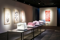 Fang Lijun · Espaces interdits, Ausstellungsansicht Musée Ariana, Genf, 2016
