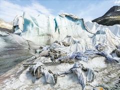 Jacques Pugin · #001 Glaciers, Rhonegletscher, 46°m 34' 48'', 8°m^23' 12'' E, 2015, Digitaldruck auf Hahnemühle, 60x80cm, Sammlung Musée de l'Elysée