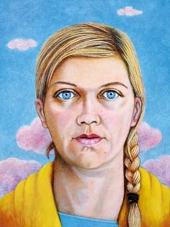 Caroline Bachmann · Vidya Gastaldon, 2015, Öl auf Leinwand, 40x30cm