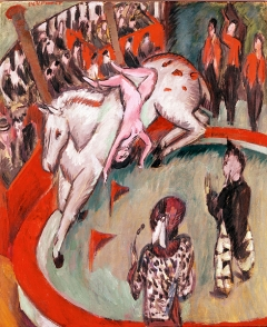Ernst Ludwig Kirchner · Zirkus, 1913, Öl auf Leinwand, 120x100cm. Foto: Sybille Forster