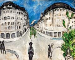 Ernst Ludwig Kirchner · Strasse am Stadtpark Schöneberg, 1912/13, Öl auf Leinwand, 121x151cm. Foto: Larry Sanders