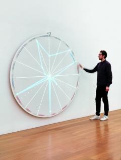 WHAT IS WEALTH?, 2010-2017, Installation, Glücksrad, 1100x700x200cm, ©Kunstmuseum Liechtenstein. Foto: Stefan Altenburger
