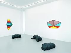 Denis Savary · Eustache, 2017, Galerie Xippas, Genf (Ausstellungsansicht). Foto: Annik Wetter