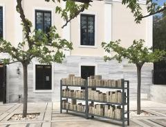Banu Cennetoğlu · Gurbet's Diary (27.07.1995-08.10.1997), 2016-2017, verschiedene Materialien, Gennadius-Bibliothek, Athen, documenta 14. Foto: Werner Egli