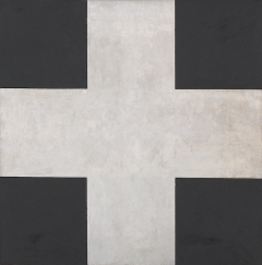 Ilya Tschasnik · Suprematistisches Kreuz, 1923, Öl auf Leinwand, 133,2x133,4 cm, SMCA - Costakis Collection, Thessaloniki, Courtesy Zentrum Paul Klee