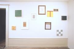 Jean Crotti, Alain Huck, Robert Ireland, Jean-Luc Manz Ausstellungsansicht M/2, Vevey, 1988. Foto: Georg Rehsteiner