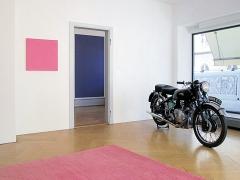 Nicole Hassler und Olivier Mosset · Ausstellungsansicht Hebel_121, Basel. Foto: Daniel Göttin