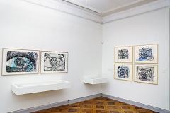 Martin Disler · Des coups au coeur, Ausstellungsansichten Cabinet d'arts graphiques, 2017. Foto: Christian Rümelin