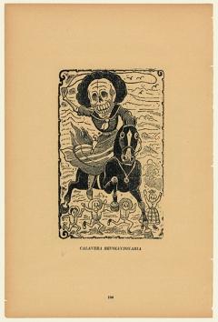 José Guadalupe Posada · Calavera revolucionaria, 1900-1913, Zinkätzung, 34,5x23cm, Courtesy Kunsthaus Zürich