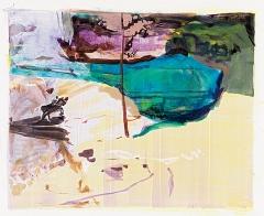 Maki Na Kamura · See XXV, 2016, Öl und Wasser auf Leinwand, 140x170cm