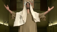 Christian Jankowski · Casting Jesus, 2011, Zwei-Kanal-Video, Courtesy Lisson Gallery, London
