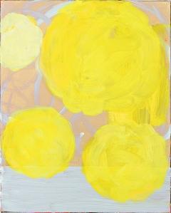 Four Yellow Balls, 2012/2017, Öl auf Leinwand, 50x40cm, Courtesy: Galerie & Edition Marlene Frei, Zürich. Foto: Philipp Ottendörfer