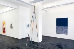 Mary Heilman, Haroon Mirza, Irene Kopelman (v.l.n.r.) · Jubiläumsausstellung Häusler Contemporary Zürich. Foto: Mischa Scherrer
