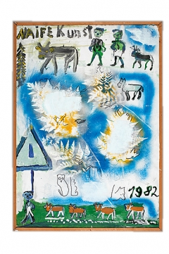 Hans Krüsi · Naife Kunst, Mischtechnik, 1982, Courtesy Kunstmuseum Thurgau