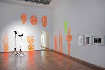 Cécile Hummel · Distant Glance, 2017, Exposed Exhibitions - Fotoarchiv der Kunsthalle Basel, Installationsansicht, Kunsthalle Basel, 2017. Foto: Philipp Hänger