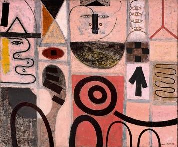 Adolph Gottlieb · The Seer, 1950, Öl auf Leinwand, 151,2x181,9cm ©ProLitteris