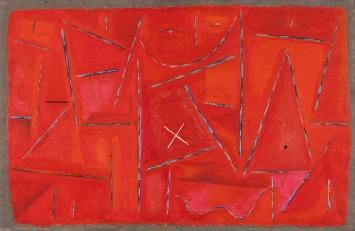 Kenneth Noland · In the Garden, 1952, Öl auf Hartfaserplatte, 49,5x76,2cm, The Phillips Collection, Washington ©ProLitteris
