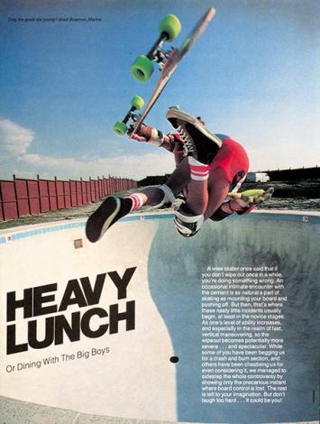 Craig Fineman · Heavy Lunch, Skateboarder Magazine, 1979/1980