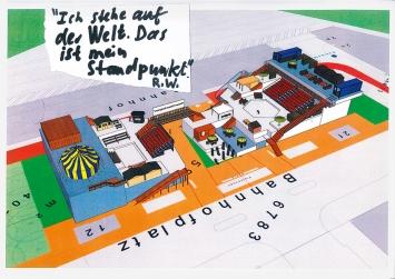 Eine Landschaft aus Räumen, Treppen, Ebenen: So soll der Bahnhofplatz in Biel im Sommer 2018 aussehen