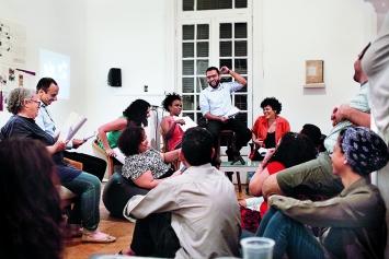 Lesung von Texten aus dem Workshop «A Geography for Beaten Heroes», CiC, Kairo, Sommer 2017