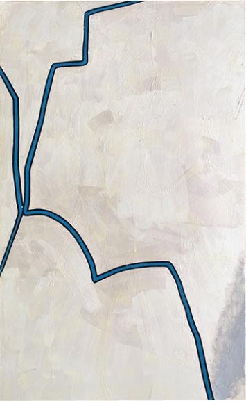 Untitled, 2017, Öl auf Leinwand, 195 x 120 cm. Courtesy für alle Werke Galerie Francesca Pia, Zürich