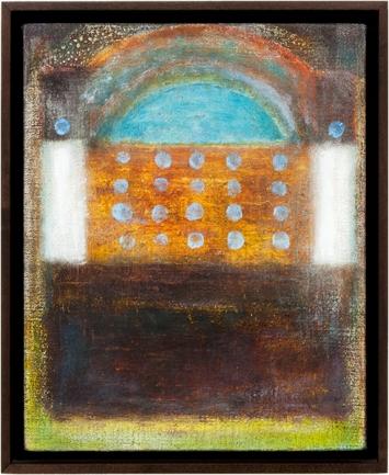 Joseph Egan · Old Ways, 2014, 38,5 x 31,5 x 3 cm, unterschiedliche Farben auf Leinwand, gerahmt, Courtesy Annemarie Verna Galerie, Zürich