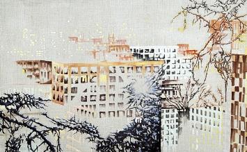 Victoire Cathelan · Graff, 2017, Öl auf Leinwand, 130 x 80 cm