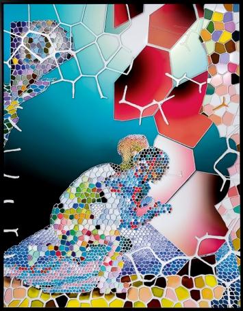 Oh boy oh boy, XVIII A, 2010, Tintenstrahldruck hinter Acrylglas, 180 x140 cm © ProLitteris