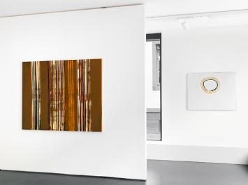 #1001217 Terrra (Monte Amiata) und #971117 Terra (Alba Albula), Ausstellungsansicht, 2018. Courtesy Anne Mosseri-Marlio Galerie, Basel.Foto: Serge Hasenböhler