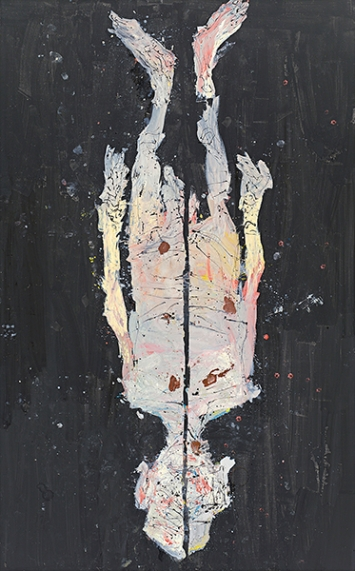Georg Baselitz · Avignon ade, 2017, Öl auf Leinwand, 480 x 300 cm. Foto: Jochen Littkemann