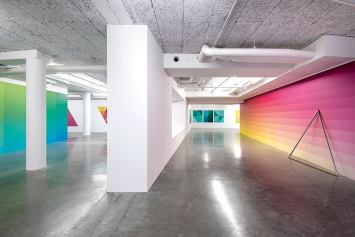 Stéphane Dafflon · U+25A6, 2018, Ausstellungsansicht Le Plateau, Frac Île-de-France. Foto: Martin Argyroglo