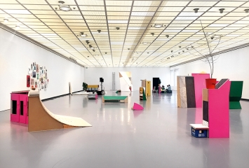 Abraham Cruzvillegas · Autorreconstrucción: Social Tissue, 2018, Ausstellungsansicht Kunsthaus Zürich. Foto: Kunsthaus Zürich