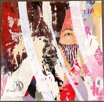 Christian Calabrò · Fresh Air, 2017, Papier und Acryl auf Holz, 30 x 30 cm