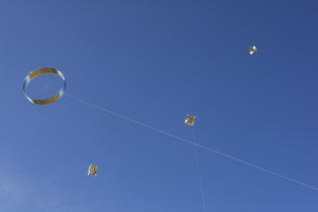 "Das ""Sound Kite Orchestra"" in Venedig Foto: Florian Dombois, 2019"