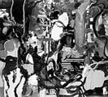 Daniel Richter ? Zwiesprache mit der Natur (beim Baden), 1996, Öl auf Leinwand, 185 x 200 cm; Foto: J. Littkemann, Berlin; Courtesy Contemporary Fine rts, Berlin