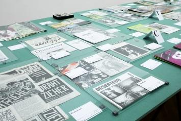 Wir publizieren, Ausstellungsansicht Kunsthalle Bern, 2020. Foto: Fine Bieler