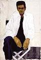 Selbstporträt vor leerer Leinwand, 1998; Öl auf Leinwand, 145 x 95 cm; alle Fotos: Arnold Helbling, Courtesy Galerie Schedler, Zürich