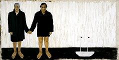 Bill and Jim (aus der Serie «The Ship of Fools»), 1999; Öl auf Leinwand, 115 x 230 cm