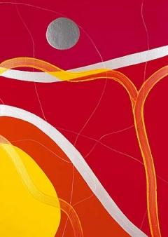 HANSPETER HOFMANN ? Ohne Titel, 2001, Acryl auf Leinwand, (Ausschnitt), 140 x 100 cm