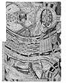 Adolf Wölfli, Geografische Karte der beiden Fürstentümer Sonoritza und Willi=Wand=West, 1911, Bleistift und Farbstift auf Zeichnungspapier, Kunstmuseum Bern