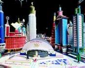 Bodys Isek Kingelez : Kinshasa des 3. Jahrtausends, 1997, Modell