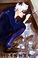 David Hockney, 1997, Aquarell auf Papier, 17,8 x 26,7 cm, Courtesy Gavin Brown's enterprise, New York