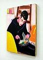 Maurizio, 1999, Öl auf MDF-Platte, 43,4 x 35,7 cm, Sammlung Nancy & Joel Portnoy