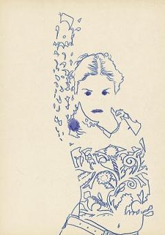 Hans Stalder · Ohne Titel, 2002, Zeichnung zum Projekt Paarläufe, 21 x 29,8 cm