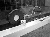 Norbert Möslang ? glass-speaker, 2002; Foto: Peter Hubacher