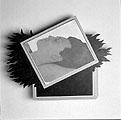 Markus Raetz · Meret, 1967, Dispersion, Vinyl auf Leinwand, Firnis, Holzrahmen, 26 x 30,5 cm; Courtesy Pro Litteris